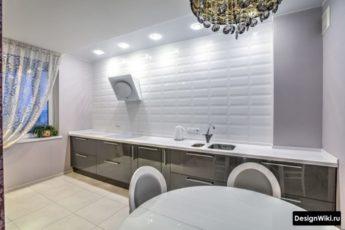 Кухня Без верхних навесных Шкафов: Дизайн и 118 реальных фото