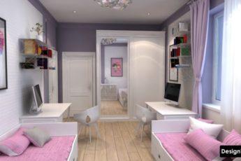 Детская Комната для Двух Девочек: 3 дизайна и 67 реальных фото