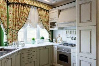 Кухня в стиле Прованс: 99 фото, сочетаем обои и шторы