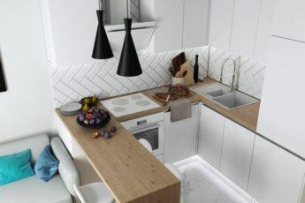 п-образная-кухня-с-барной-стойкой-и-окном