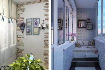 Идеи интерьера и отделки маленького балкона